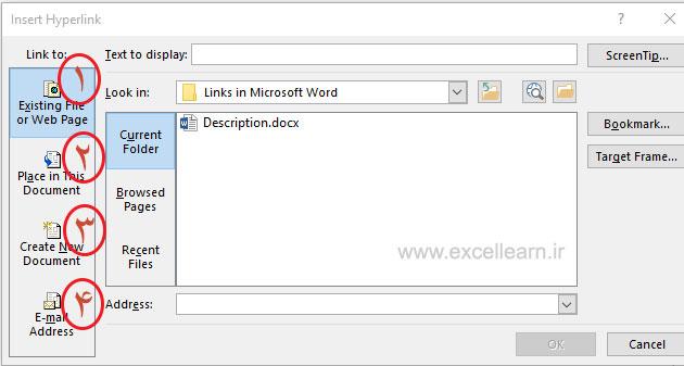 آموزش ابزار Hyperlink در Word