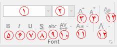 گروه ابزار Font