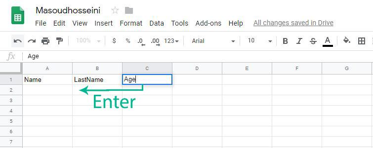آموزش وب اپلیکیشن Google Sheets (قسمت دوم)