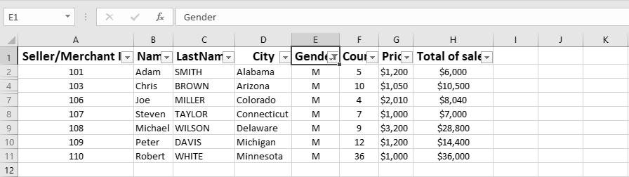Custom Views in Excel