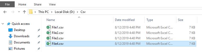 تبدیل فایل csv به اکسل