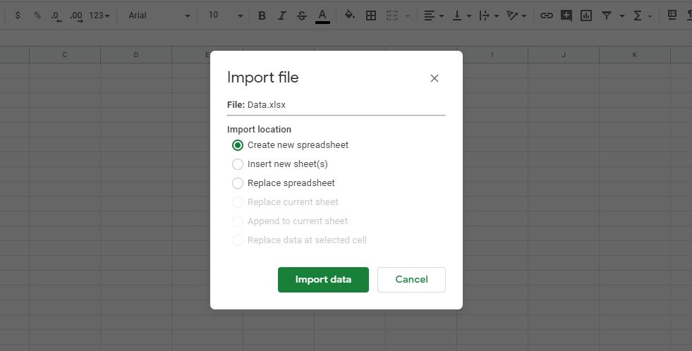 انتقال داده ها از اکسل به گوگل شیتس (Google Sheets)