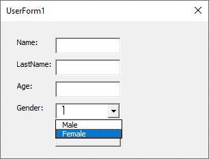 ساخت Userform در اکسل