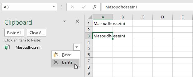 معرفی و کاربرد Clipboard Task Pane در اکسل