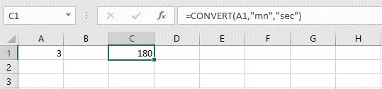 کاربرد تابع CONVERT در اکسل