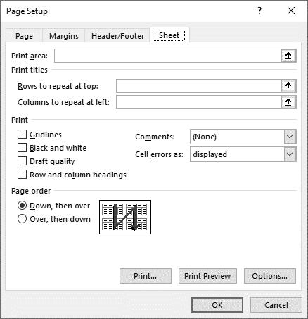 نحوه پرینت کامنت ها در نرم افزار اکسل