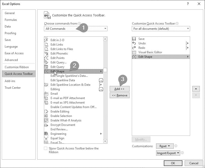 تغییر شکل کامنت در نرم افزار اکسل