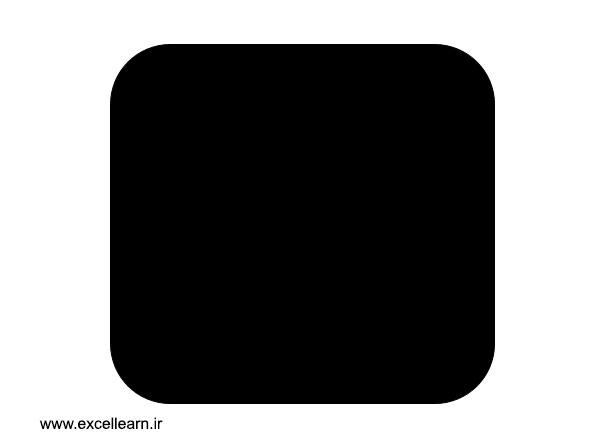 تصویر 4- طراحی لوگوی اینستاگرام در نرم افزار پاورپوینت