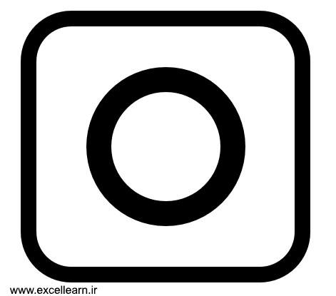 تصویر 8- طراحی لوگوی اینستاگرام در نرم افزار پاورپوینت
