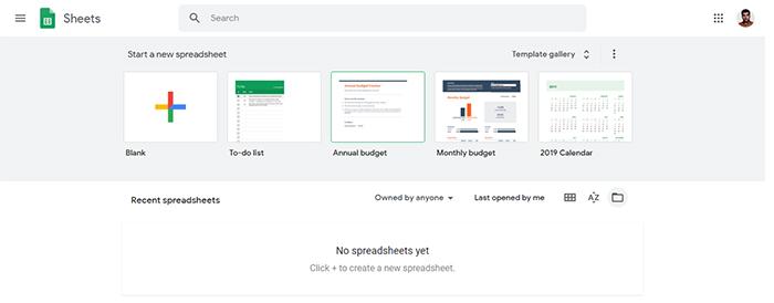 نحوه ایجاد صفحه گسترده در Google Sheets