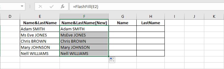 روش جداسازی نام و نام خانوادگی در اکسل