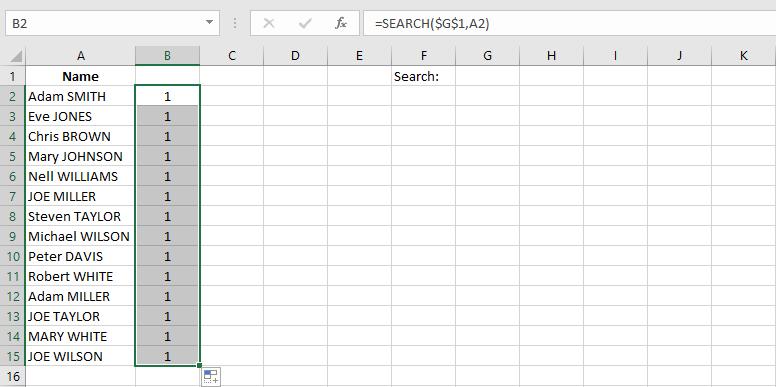 ایجاد لیست کشویی با قابلیت جستجو در اکسل