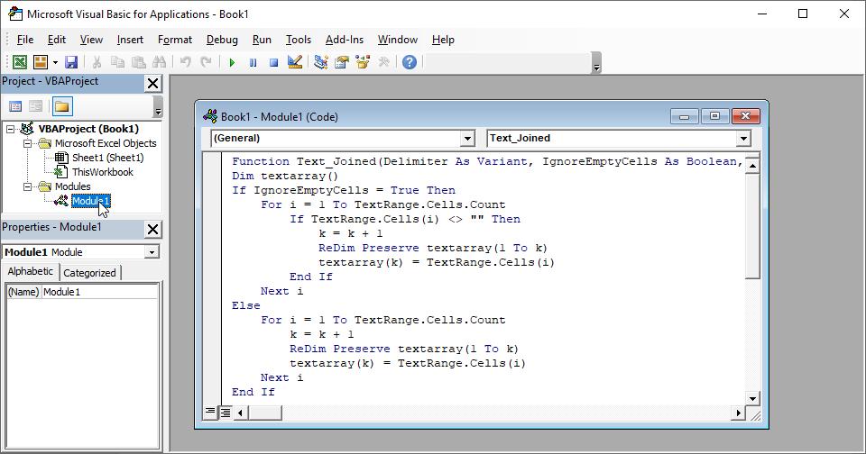اضافه کردن تابع جدید به اکسل (وی بی ای)