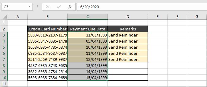 استفاده از ابزار Conditional Formatting در ایجاد آلارم(Notifications)